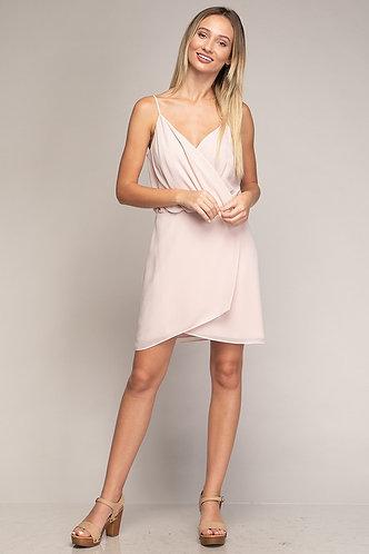 Poppy Wrap Dress in Blush