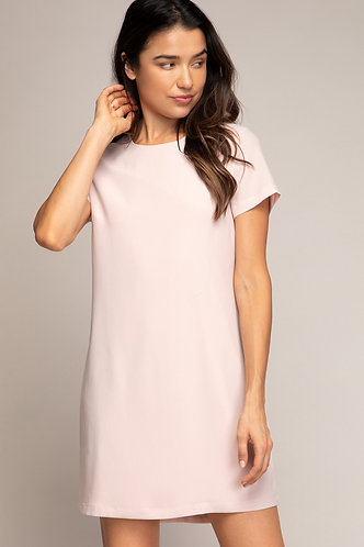 Macy Shift Dress in Blush
