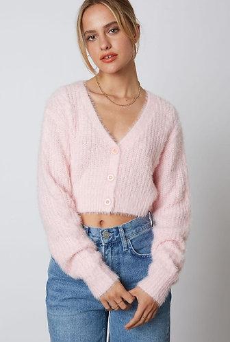 Daydream Knit Cardigan in Petal Pink