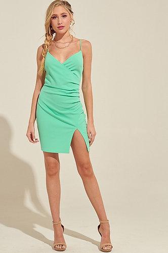 Winnie Ruched Bodycon Dress in Mint