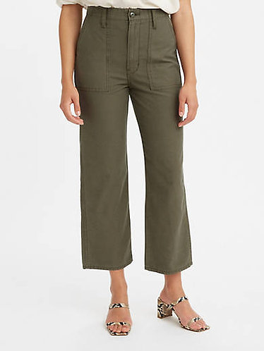Levi's Ribcage Utility Pant in Olive Nights