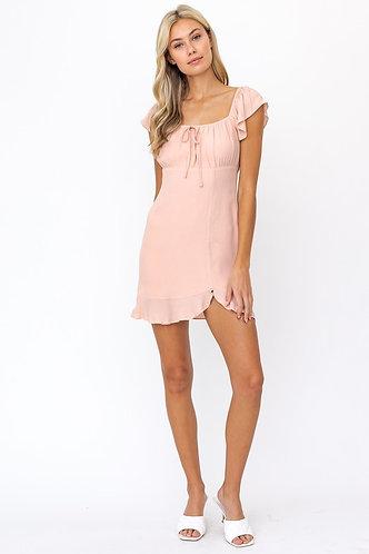 Lindsay Summer Dress in Peach