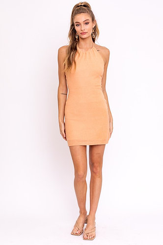 Vie Mini Dress in Dusty Orange