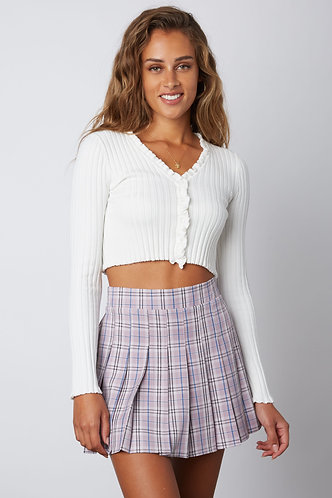 Checkmate Tennis Skirt in Lilac