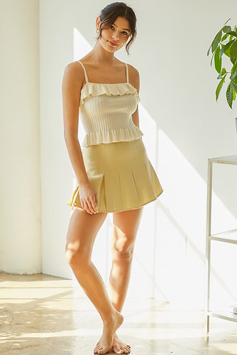 Pascale Tennis Skirt in Moss