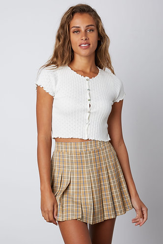 Checkmate  in Tennis Skirt in Tan