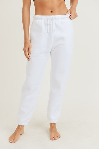 Perfect Fit High Waist Sweatpants in White