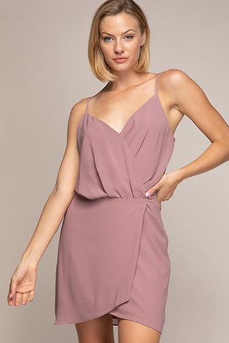 Poppy Wrap Dress in Mauve