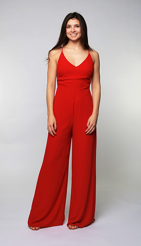 Strappy Back Jumpsuit in Re