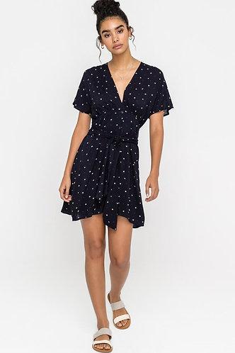 Naomi Day Dress in Navy