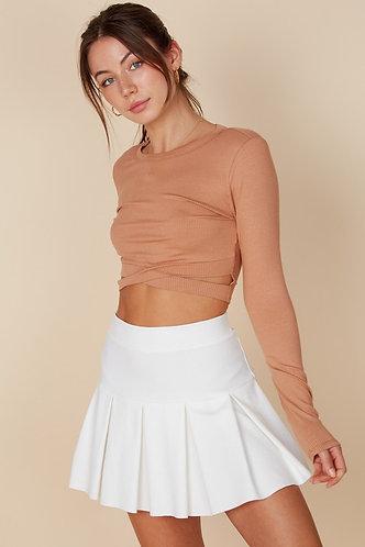Emma Tennis Skirt in Ivory