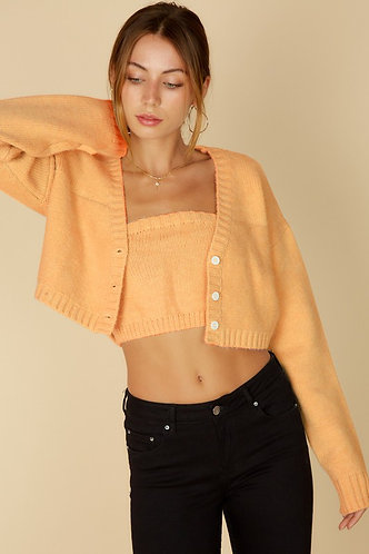 Cozy Sweater Set in Apricot