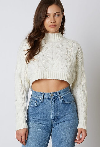 Kamloops Knit Sweater in Cream