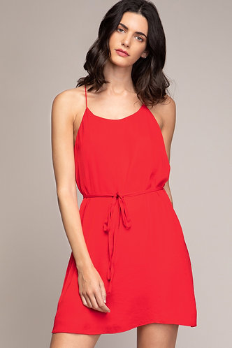 Kelsey String Dress in Red