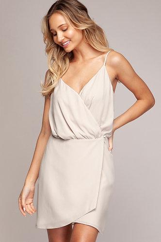 Poppy Wrap Dress in Oyster