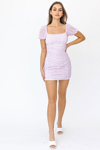 Jasmine Floral Dress in Lilac
