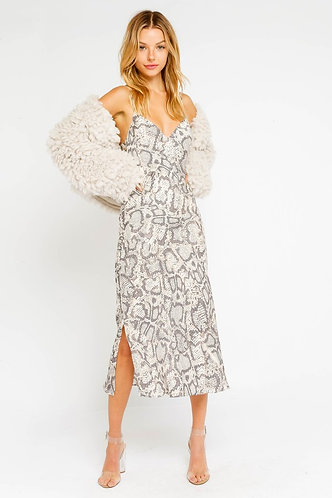 Sage Faux Fur Jacket in Ivory