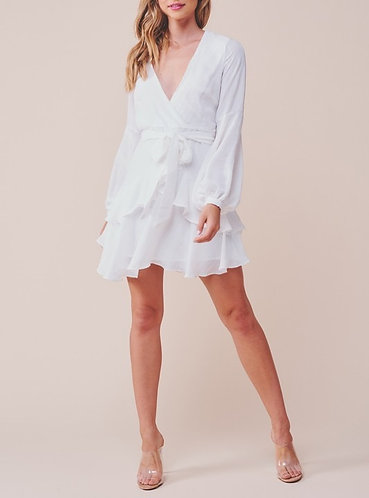 Bettina Chiffon Ruffle Mini Dress