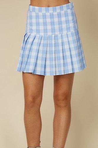 AceTennis Skirt in Blue Plaid