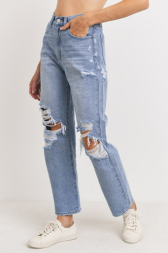 Bobby Dad Jeans in Ocean Spray