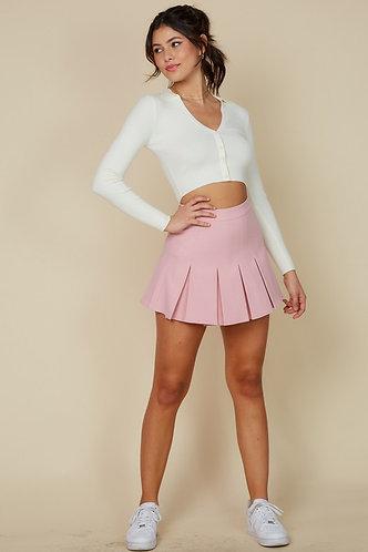 Emma Tennis Skirt in Rose