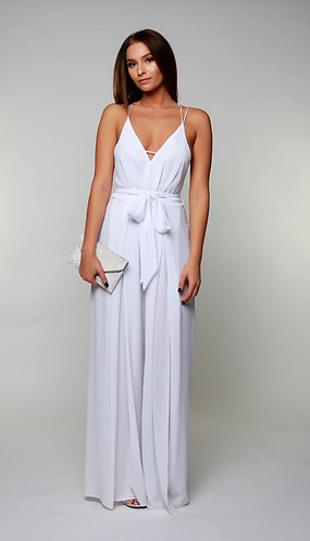Celebrate With Me Jumpsuit in White