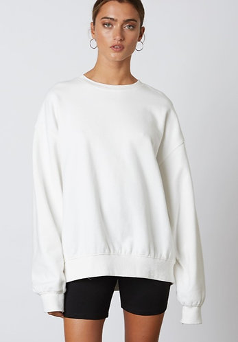 On Repeat Crewneck in White