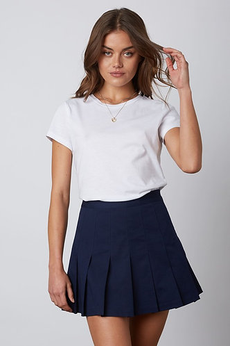 Heathers Pleated Skirts in Navy