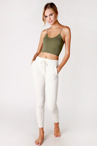 Seamless Skinny Strap Cami in Moss