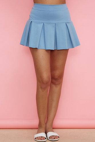 Emma Tennis Skirt in Light Blue