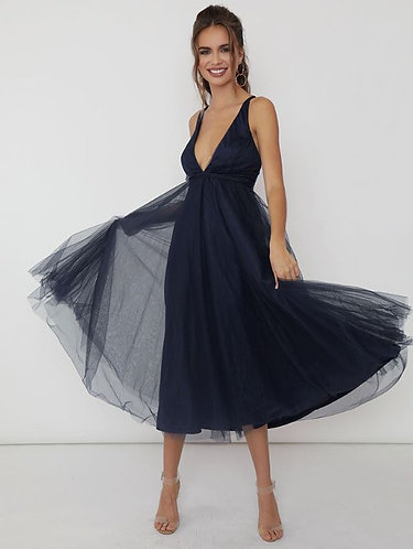 Mi Amor Tulle Party Dress in Navy
