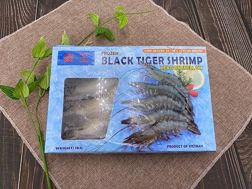 越南 天然原隻虎蝦 8-10隻 1kg