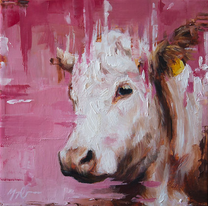 Pink Cow Portrait