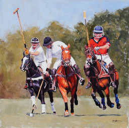 """""""Ahead of the Pack"""" Polo Classic Poster"""
