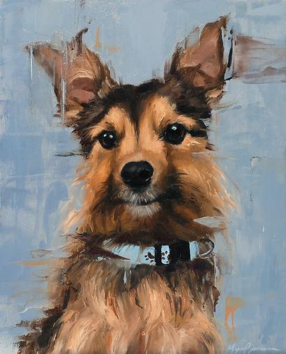 Shep portrait, 8x10 by Morgan Cameron Ar