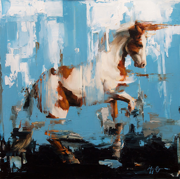 The Pinto 12x12 oil on panel by Morgan Cameron Art
