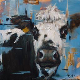 Blue Cow Portrait