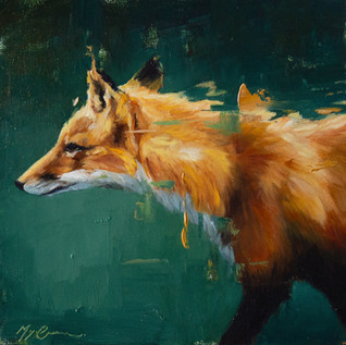 Fox on Emerald