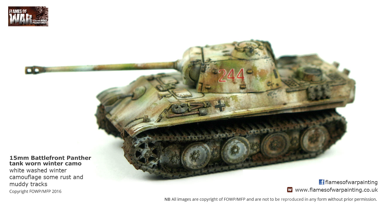 15mm Battlefront Panther tank worn w