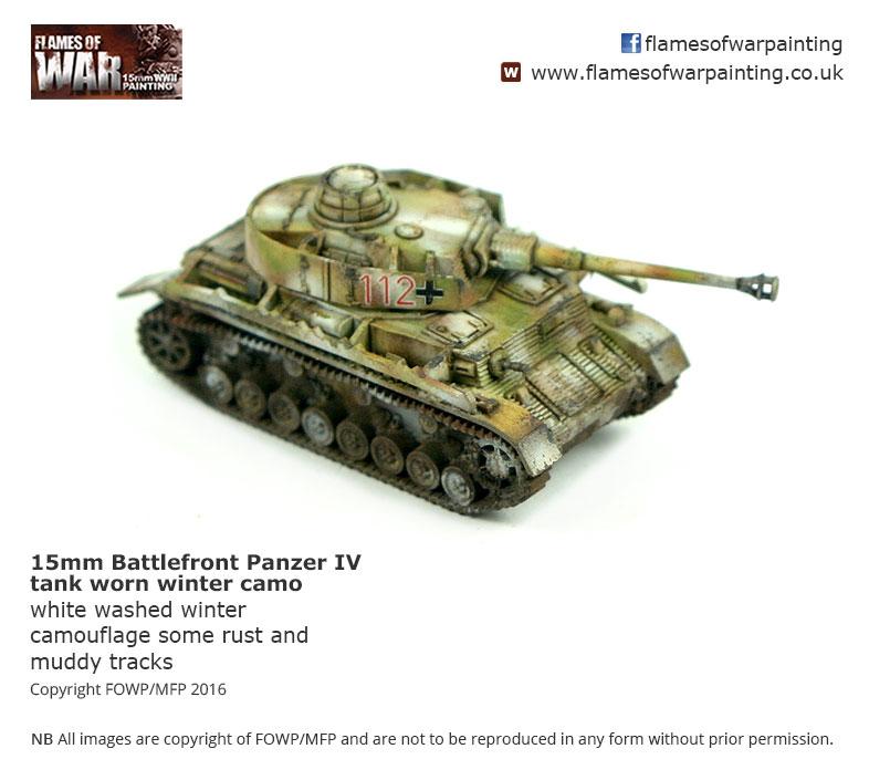 15mm Battlefront Panzer IV tank worn