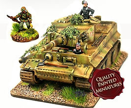SHQ 20mm Tiger Tank with Crew Painted by Flames of War Painting/MFP