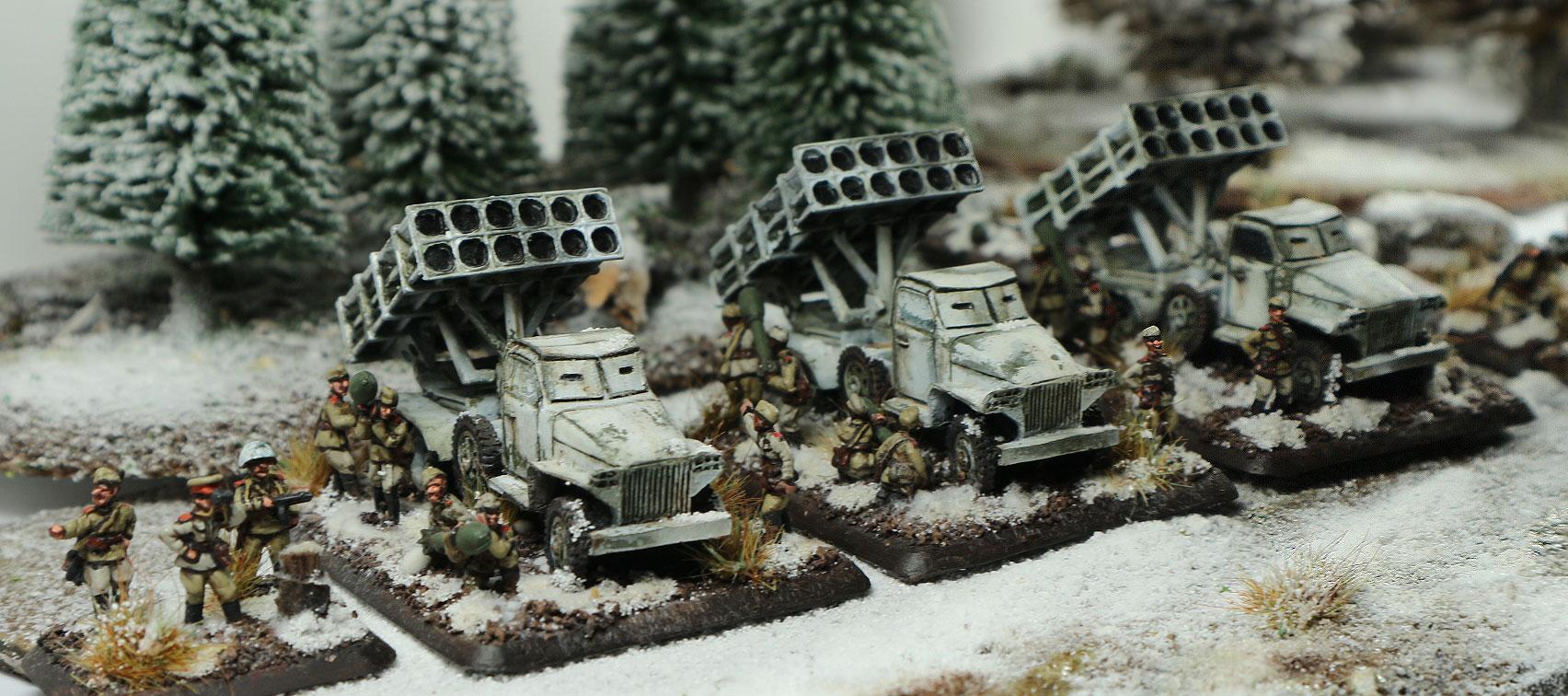 Heavy Rocket Mortar Battery in Winte