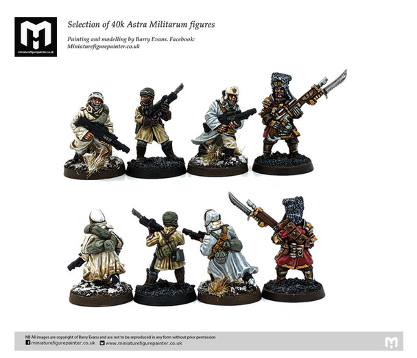 Warhammer 40k Astra Militarum infantry