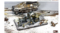 Battlefront 15mm Panzer ivs & King Tigers in winter camo. Terrain creation by FOWP/MFP