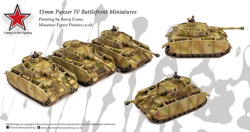15mm Panzer IV zug tanks