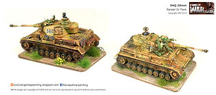 20mm German Panzer IV painting by FOWP
