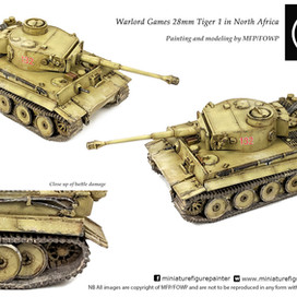 Warlord Games/Bolt Action 28mm Tiger 1 in desert camo