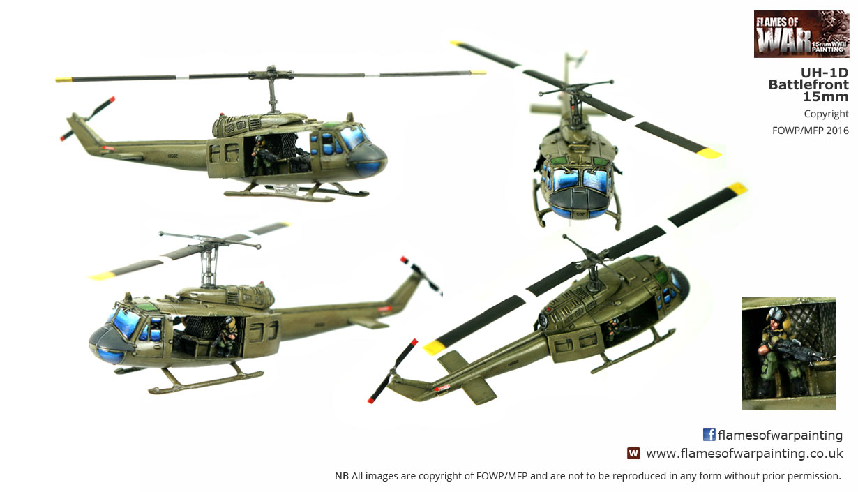 15mm US UH-1D-1 Helicopter