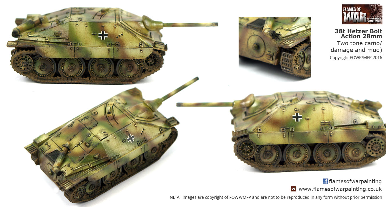 38t Hetzer Bolt Action 28mm Two tone