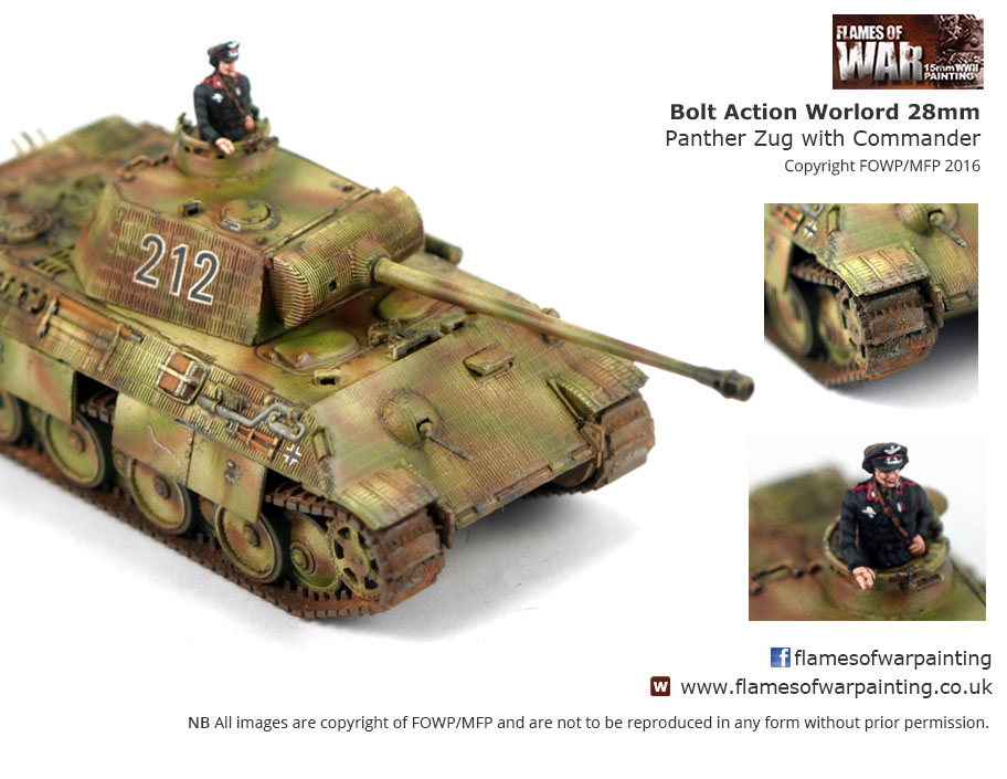 Bolt Action Warlord 28mm Panther Zug